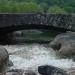 Le pont du Nassier pris au milieu du cours du Chassezac